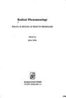 Radical phenomenology : essays in memory of Martin Heidegger /