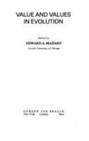 Value and values in evolution /