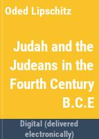 Judah and the Judeans in the fourth century B.C.E /