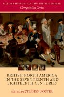 British North America in the seventeenth and eighteenth centuries /