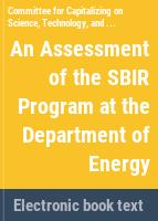 An assessment of the SBIR program at the Department of Energy /