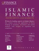 Islamic finance : instruments and markets.