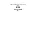 Comparative legislative reforms and innovations /