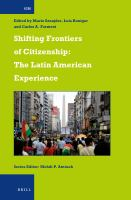Shifting frontiers of citizenship : the Latin American experience /