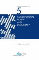 Constitutional review and democracy /