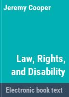 Law, rights, and disability /