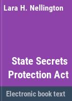 State Secrets Protection Act /