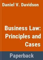 Business law : principles and cases /