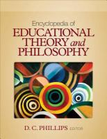 Encyclopedia of educational theory and philosophy /