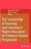 The scholarship of teaching and learning in higher education : an evidence-based perspective /