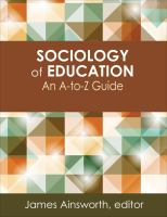 Sociology of education : an A-to-Z guide /