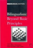 Bilingualism : beyond basic principles : festschrift in honour of Hugo Baetens Beardsmore /