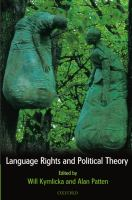 Language rights and political theory /