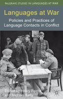 Languages at war : policies and practices of language contacts in conflict /