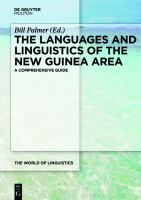 The languages and linguistics of the New Guinea area : a comprehensive guide /