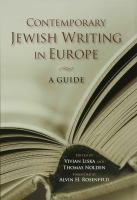 Contemporary Jewish writing in Europe : a guide /
