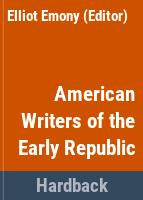 American writers of the early republic /