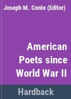 American poets since World War II.