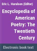 Encyclopedia of American poetry.