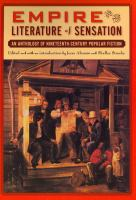 Empire and the literature of sensation : an anthology of nineteenth-century popular fiction /