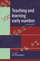 Teaching and learning early number /