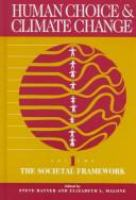 Human choice and climate change /
