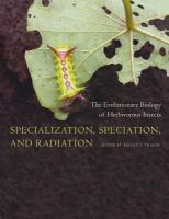 Specialization, speciation, and radiation the evolutionary biology of herbivorous insects /