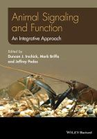 Animal signaling and function : an integrative approach /