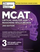 MCAT critical analysis and reasoning skills review /