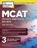 MCAT physics and math review /