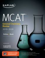 MCAT general chemistry review 2019-2020 /