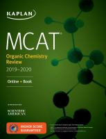 MCAT organic chemistry review 2019-2020 /