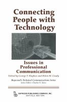 Connecting people with technology issues in professional communication /