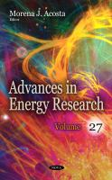 Advances in energy research.