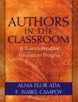 Authors in the classroom : a transformative education process /