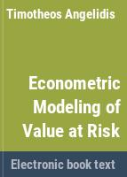 Econometric modeling of value-at-risk /