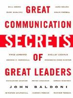 Great communication secrets of great leaders /
