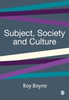 Subject, society, and culture /