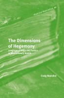 The dimensions of hegemony : language, culture and politics in revolutionary Russia /