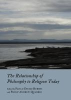 The relationship of philosophy to religion today /