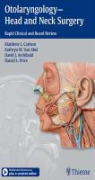 Otolaryngology--head and neck surgery : rapid clinical and board review /