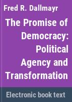 The promise of democracy : political agency and transformation /