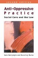 Anti-oppressive practice : social care and the law /