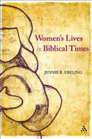 Women's lives in biblical times /