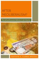 After neoliberalism? : the left and economic reforms in Latin America /