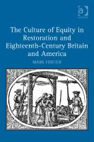 The culture of equity in Restoration and eighteenth-century Britain and America /
