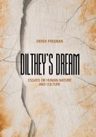 Dilthey's dream : essays on human nature and culture /