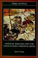 Samurai, warfare & the state in early medieval Japan /