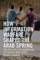How Information Warfare Shaped the Arab Spring : The Politics of Narrative in Tunisia and Egypt /