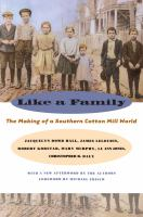 Like a family : the making of a Southern cotton mill world /